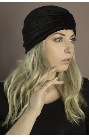 turban velours noir